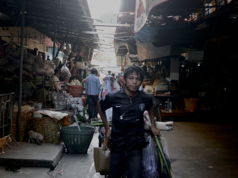 Boy in markets