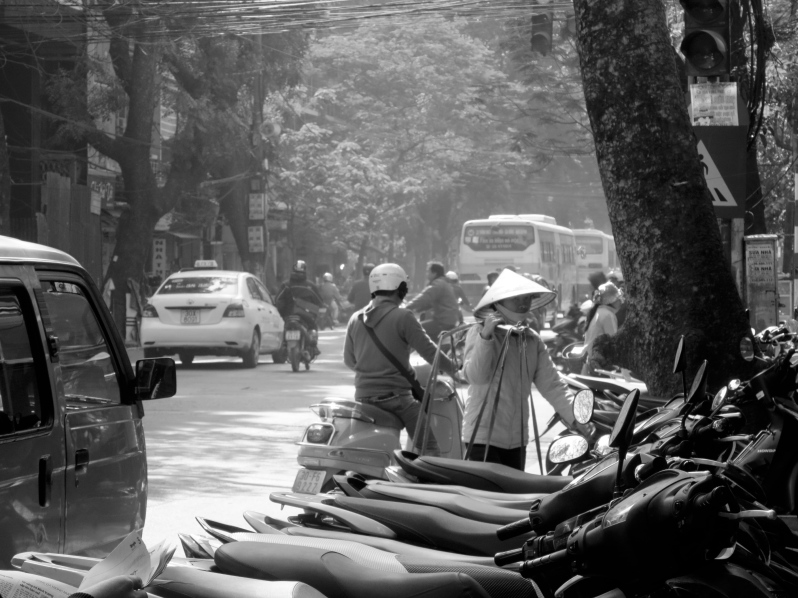 Street life in black and white