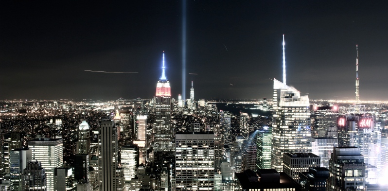 View from the Rockefeller Centre on September 11