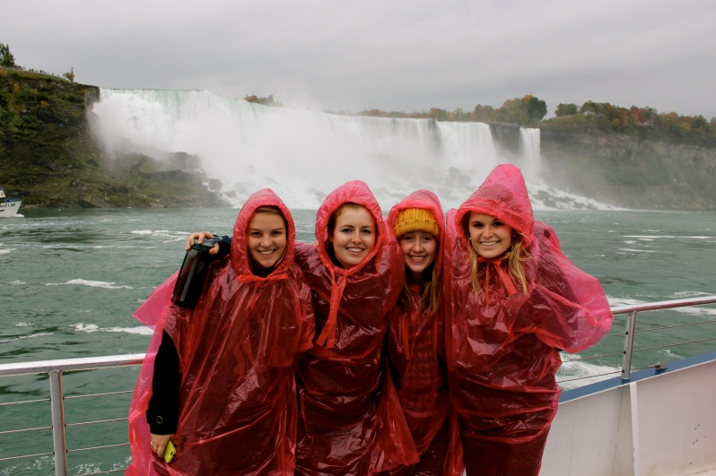 The girls at Niagara Falls