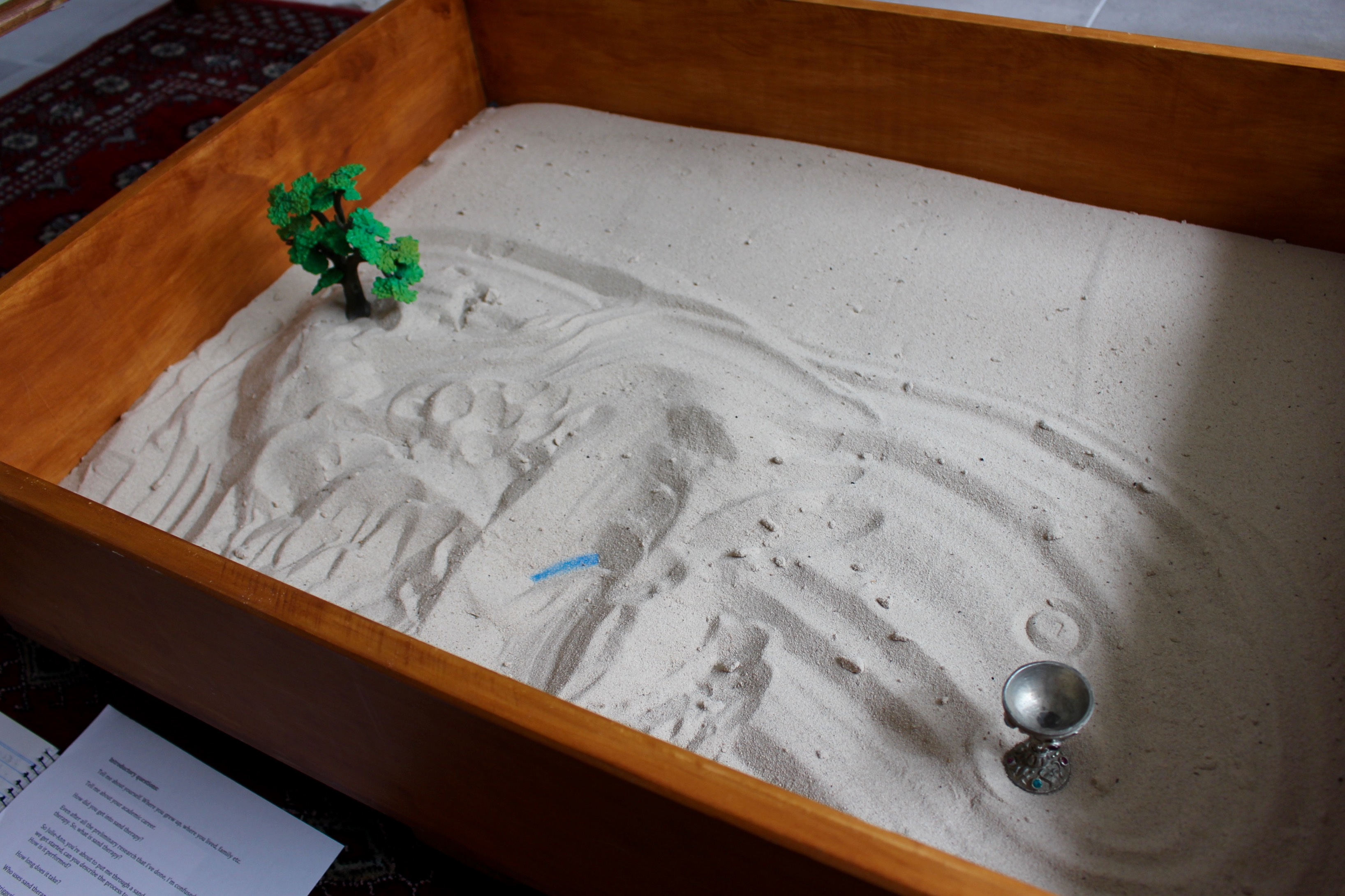 Sand play therapy sand tray image